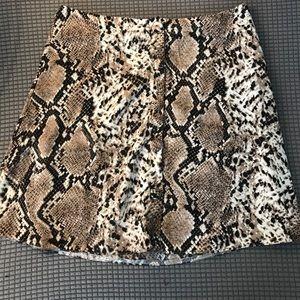 Nasty gals snake print skirt